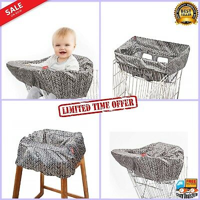 Foldable Shopping Cart Baby High Chair Take Protection Cover Seat Safety Belt