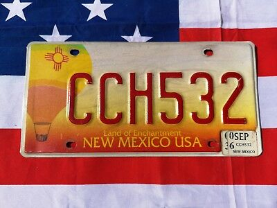 Plaque d' immatriculation New Mexico CCH532 Us Usa license plate