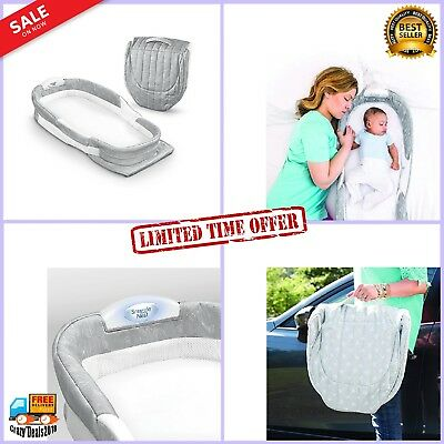 Folding Infant Sleeper Baby Bed Portable Bassinet Waterproof Mattress w Sheet