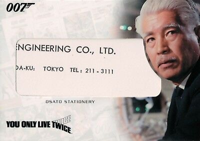 James Bond Complete, Osato Stationery Relic Card RC16