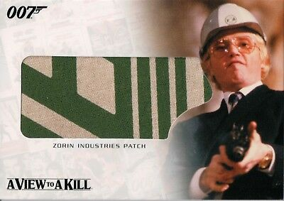James Bond Complete, Zorin Industries Patch Relic Card RC9