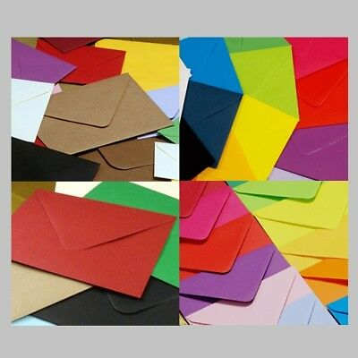 Square 130 x 130mm Coloured Envelopes for Greeting Card Party Invitations Craft