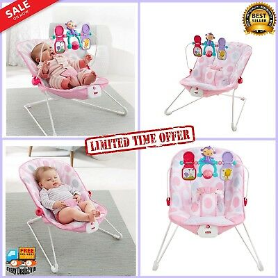 Fisher-Price Baby/'s Bouncer Swing padded seat Rocker Chair soothing w toy bar