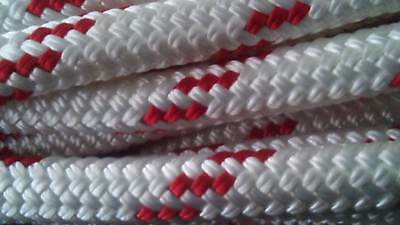 """9/16"""" x 100 ft.Premium Double Braid Yacht Braid Polyester Rope.Made in the U.S.A"""