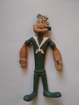 Vintage 1968 Kfs Rubber Popeye Bendable Doll 6""