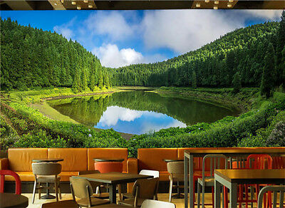 Trees Around Water 3D Full Wall Mural Photo Wallpaper Printing Home Kids Decor