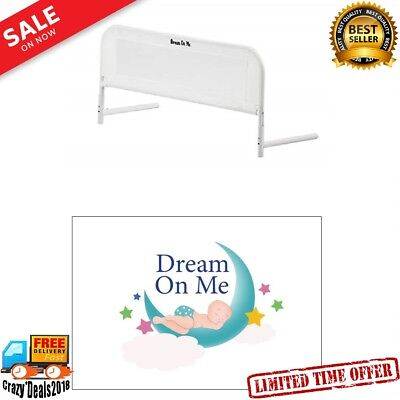Kids Baby Children Toddler Guard Safety Mesh Bed Rails White Security Crib small