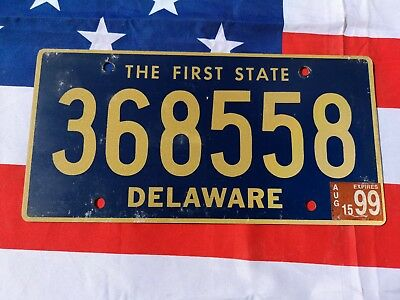 Plaque d'immatriculation Delaware 368558 Us Usa license plate