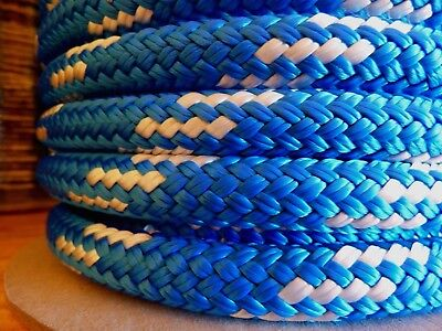 """5/8"""" x 50 ft. Double Braid~Yacht Braid Polyester rope.Made in USA."""