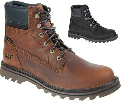 be0605afd7419e CAT CATERPILLAR Deplete Waterproof Leather Casual Ankle Shoes Boots Mens New