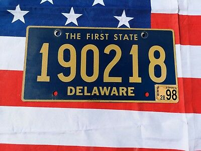 Plaque d'immatriculation Delaware 190218 Us Usa license plate