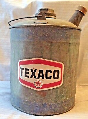 Texaco Galvanized Can - Great Condition