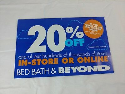 Bed Bath & Beyond 20% Off one item in store or online Coupon exp 2/4/19