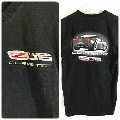 Chevrolet Corvette Z06 Black Shirt Embroidered Medium 2000s (A5)