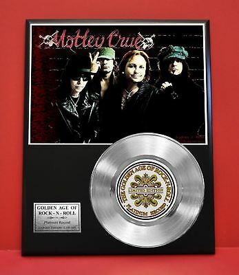 Motley Crue Platinum Record Limited Edition Music Award Display