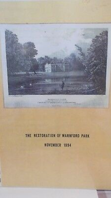 Proposals for the RESTORATION OF WARNFORD PARK , HAMPSHIRE 1994