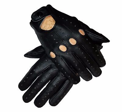 New Real Leather Men's Leather Fashion Unlined Top Quality Gloves