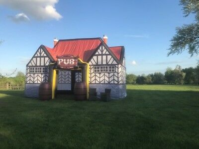 Inflatable pub business for sale, complete relocatable business with website