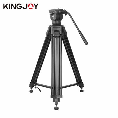 Professional Heavy Duty DV Video Camera Tripod & Fluid Pan Head Kit 72 Inch JL