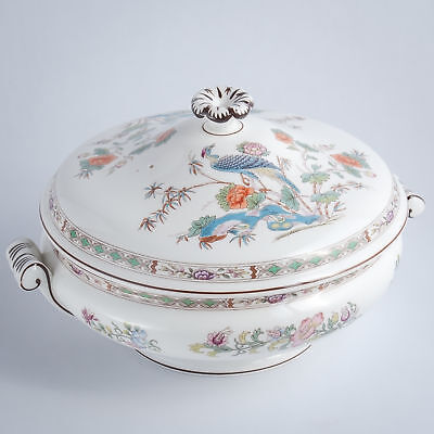 Wedgwood Kutani Crane R4464 Bone China Covered Vegetable Dish Tureen England