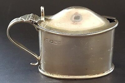 Sterling hallmarked silver vintage Victorian antique mustard condiment pot
