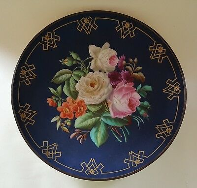 Vienna porcelain vintage Victorian antique hand painted charger wall plate