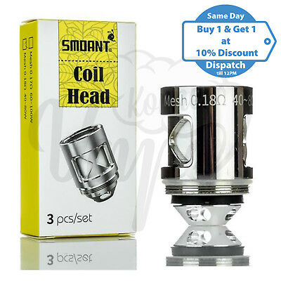 Smoant Naboo Mesh Coil Head 0.17ohm 0.18ohm Replacement Coils For Naboo Atomizer