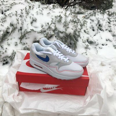 premium selection 6938d d0bf7 ... NIKE AIR MAX 1 CENTRE POMPIDOU By Day Pure Platinum Royal Blue White  AV3735-002