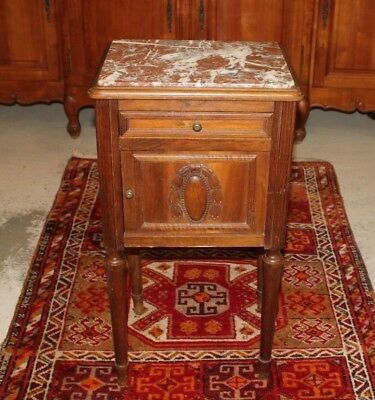 French Antlque Marble Top Nightstand Side Ta le | Bedro | Bedroom Furnituru