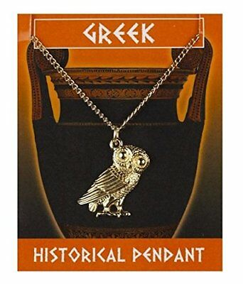 Owl pendant Greek Style gold plated with a gold chain
