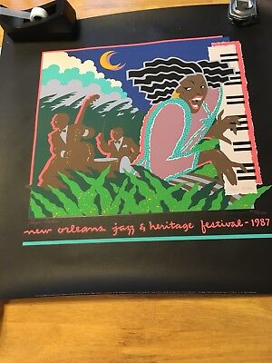 1987 New Orleans Jazz Fes posters Signed By Artis