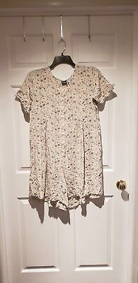 Womens Size Large Light Yellow Floral Maternity Romper Honors Maternity