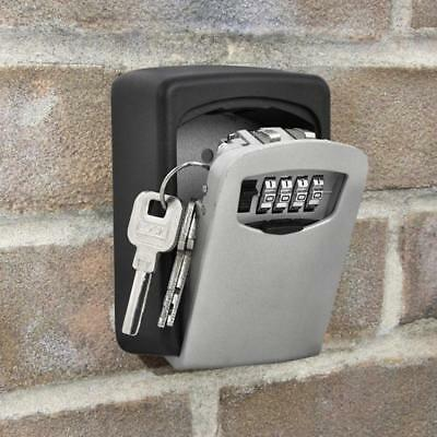 4 Digit Key Lock Box Wall Mount Combination Safe Password Hook Storage Organizer