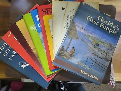 Group of 10 books/reports on Florida archaeology, native culture, and history