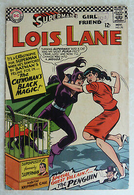 Superman's Girl Friend LOIS LANE #70 1st Silver Age Appearance of Catwoman 1966