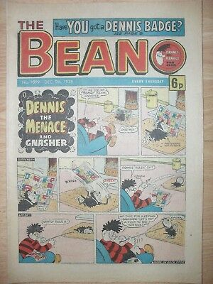 BEANO - 9th DECEMBER 1978 - NOVEL 40th BIRTHDAY GIFT!!