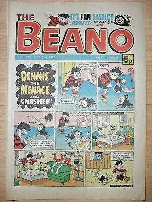 BEANO ~ 2nd DECEMBER 1978 ~ NOVEL 40th BIRTHDAY GIFT