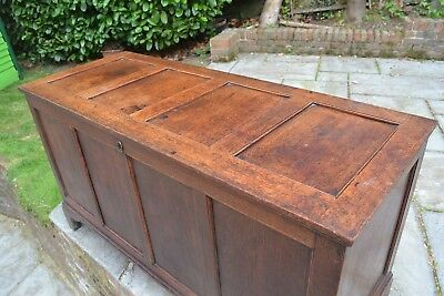 Antique oak coffer / trunk / chest / ottoman / blanket box - circa 1770