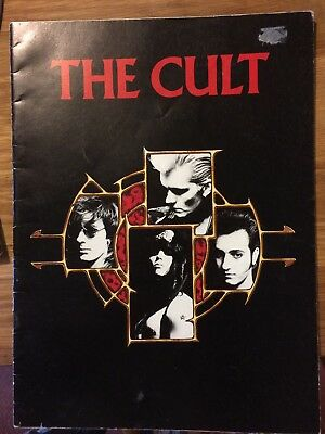 The Cult UK Tour 1987 Programme - rare pop memorabilia -