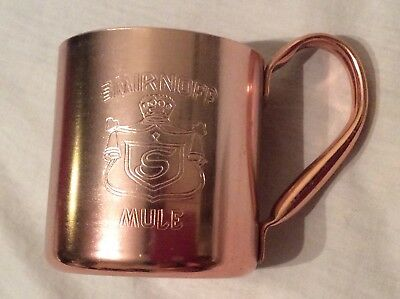 Vintage SMIRNOFF MULE Vodka Distilled CUP MUG Barware Distillery Advertising