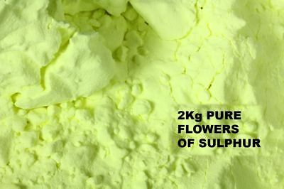 FLOWERS OF SULPHUR POWDER 2 Kg. - 99.99 % HIGH PURITY SUBLIMED - HEALTH REMEDY