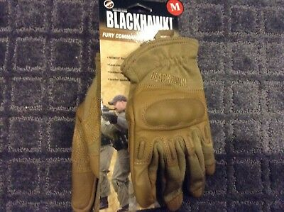BLACKHAWK FURY COMMANDO HD WITH NOMEX Tactical Gloves  Tan - SIZE M - Med - New