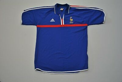 VTG France National Team Soccer Jersey Blue FFF Adidas Large L World Cup  French ab17ebf4d