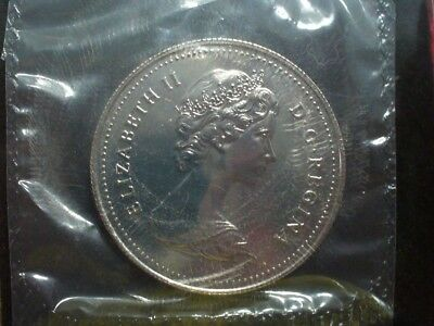 1982 Canada Voyageur Nickel Dollar Sealed in Plastic as Cut from Proof-like Set