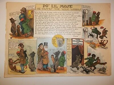 "1901 PORE Po LIL MOSE ""Visits The Waxworks"" LETTER TO MAMMY R.F.Outcault Horrors"