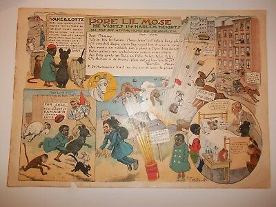 "1901 PORE LIL MOSE ""Visits Harlem Heights"" COMIC LETTER TO MAMMY R.F. Outcault"