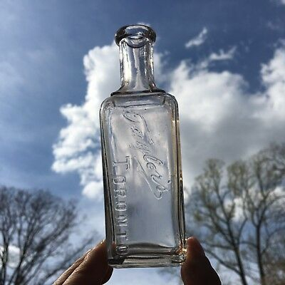 Fancy Blown Bottle Taylor's Toronto CA Canada Perfume Cologne 1890s Nice