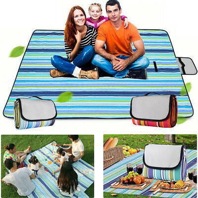 Extra Large Waterproof Picnic Blanket Rug Outdoor Camping Beach Mat 150x200cm AU