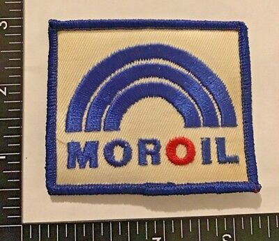 Vintage MOROIL Sew-On Patch Gas Oil Rare