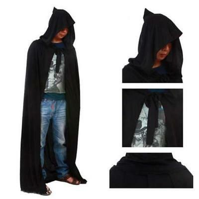 Halloween Costume Adult Hooded Long Cape Cloak Tippet Prop Coat Cosplay New MA